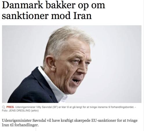 Danmark bakker op